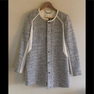 NWOT WHBM off white gray tweed lined jacket